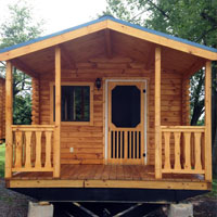 Deluxe One Room Log Cabin