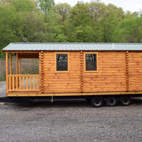 Deluxe Two Room Log Cabin