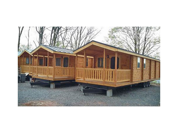 Deluxe Three Room Log Cabin