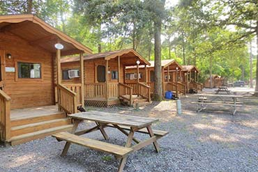 Lancaster Log Cabins at Ponderosa Campground