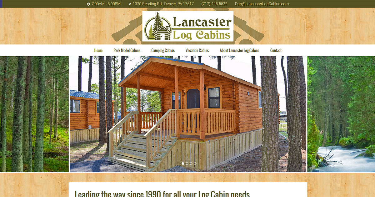 Lancaster Log Cabins – Real Log Park Model Cabins & Cabin